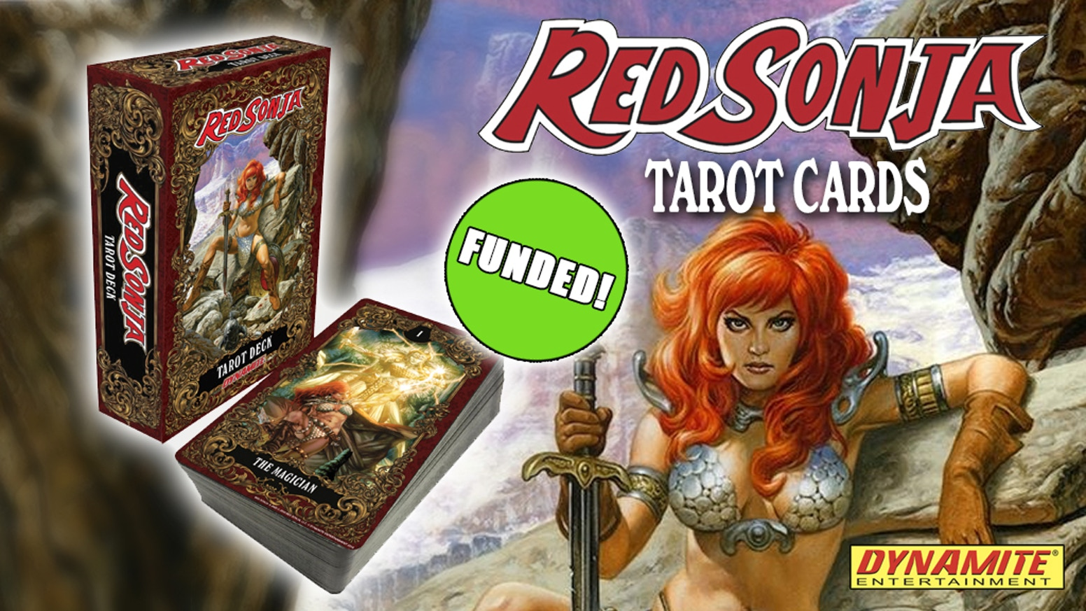 The first tarot deck featuring the art of Red Sonja.