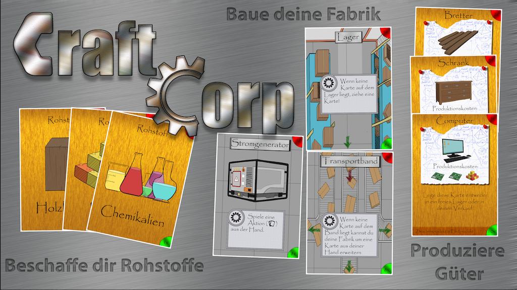 Project image for CraftCorp - Ein Aufbau-Kartenspiel (Canceled)