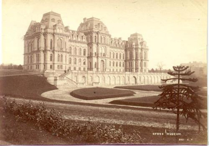Photograph of The Bowes Museum taken in 1930 by Elijah Yeoman (1849-1930), in which the monkey puzzle appears prominently