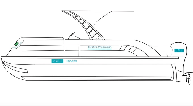 CAD Sketch of Boat Side View