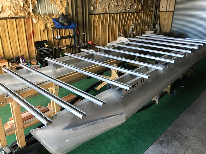 Recycled Aluminum Tubes and Frame for Prototype