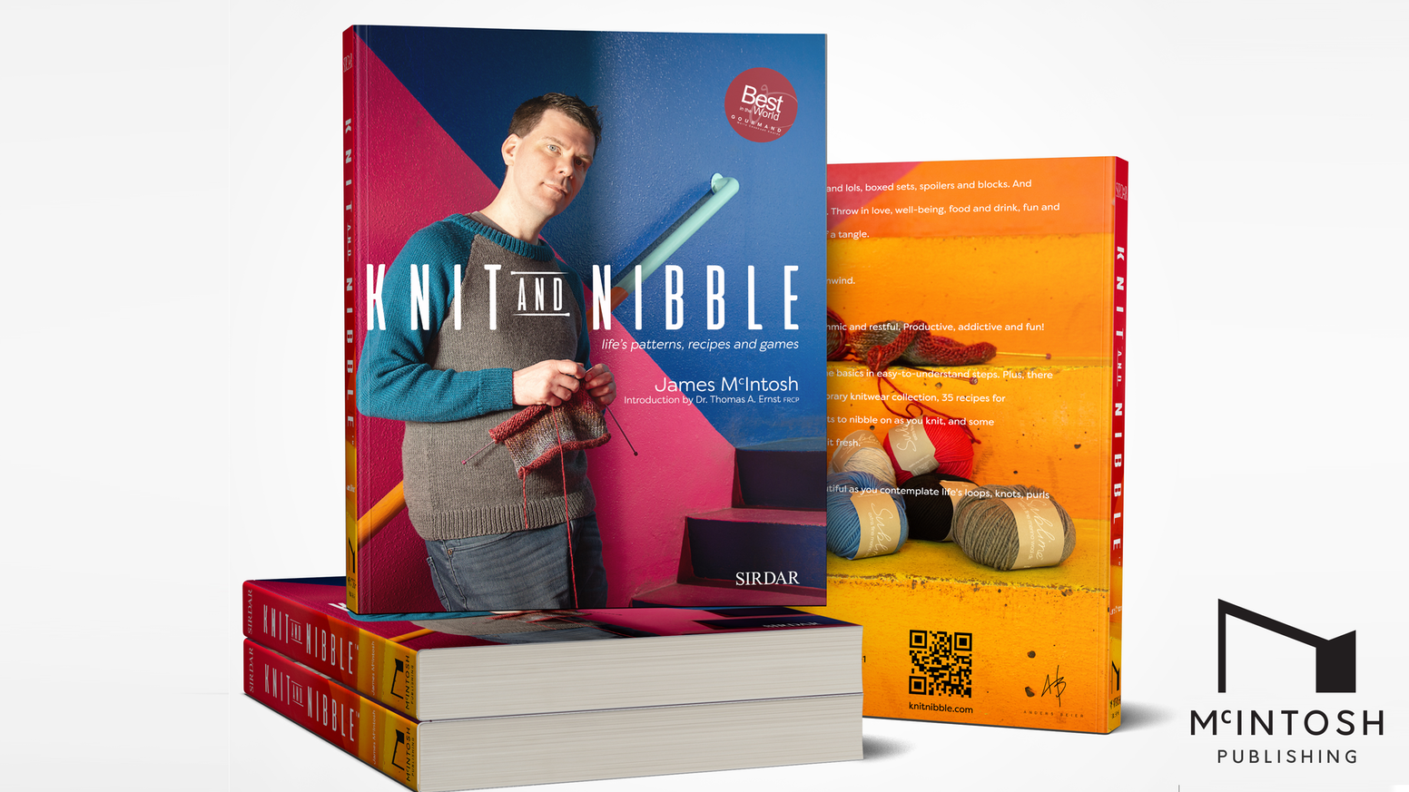 Knit and Nibble, a book about knitting, cooking and mindfulness to add colour to your clothes, food and mind.