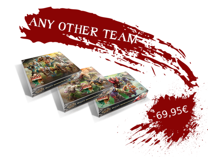 You can choose any of our teams:Amazons, Chaos, Chaos Dwarfs, Chaos Pact, Dead XXL, Draconians, Dwarfs, Egyptian, Goblins, Humans, Imperial Halflings, Lords of Corruption, Mythology, Necromantic, Ratmen, Ultimate Halflings, Undead or Wood Elves