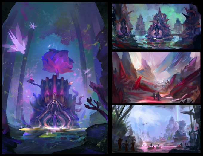 Some environments in Pentopia.