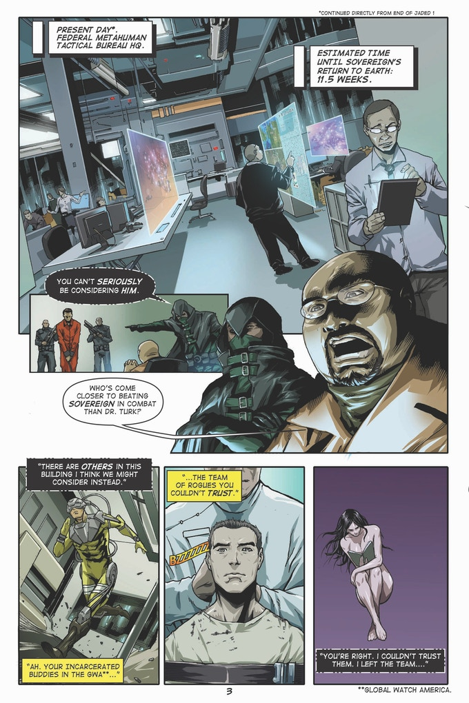 Devlin and the Director in Jaded #5