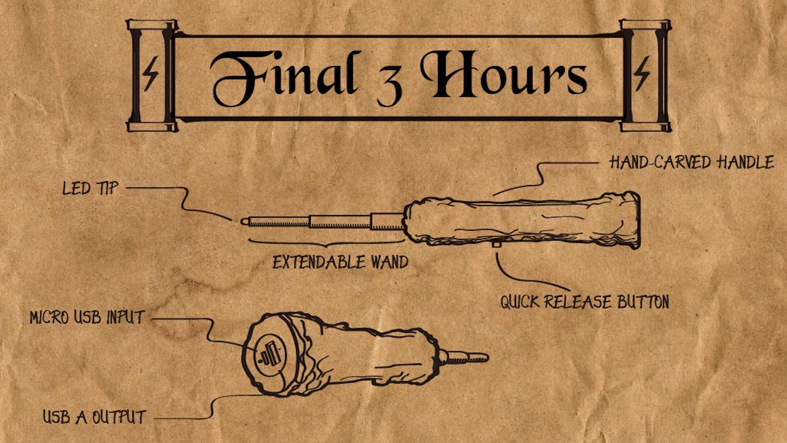 The CELLder Wand: Expecto Rechargum! Magical Wand Power Bank