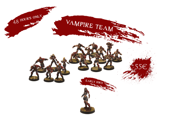 If you pledge in the first 48h you will get the Kickstarter Exclusive Female Thrall for FREE