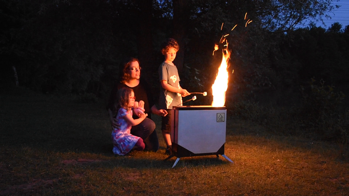 Just take off the secondary combustor to turn the FYRO Stove into a fire pit!