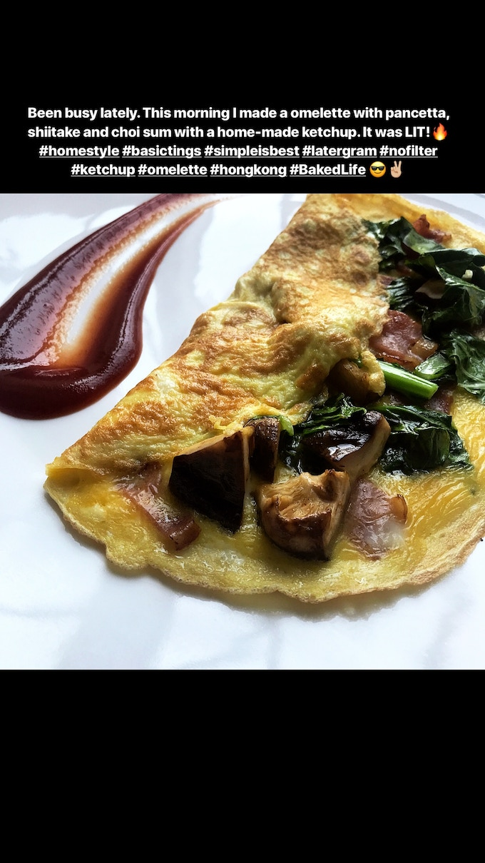 Omelette with homemade ketchup