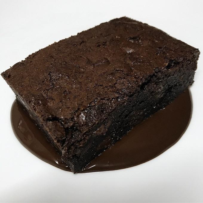 Chocolate brownie, chocolate ganache