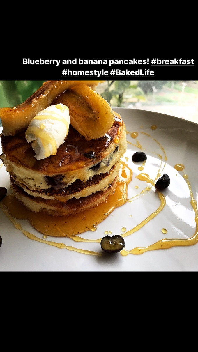 Blueberry & Banana pancakes