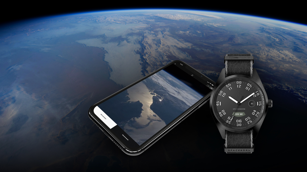 Space watches allowing to look back from space in real time.