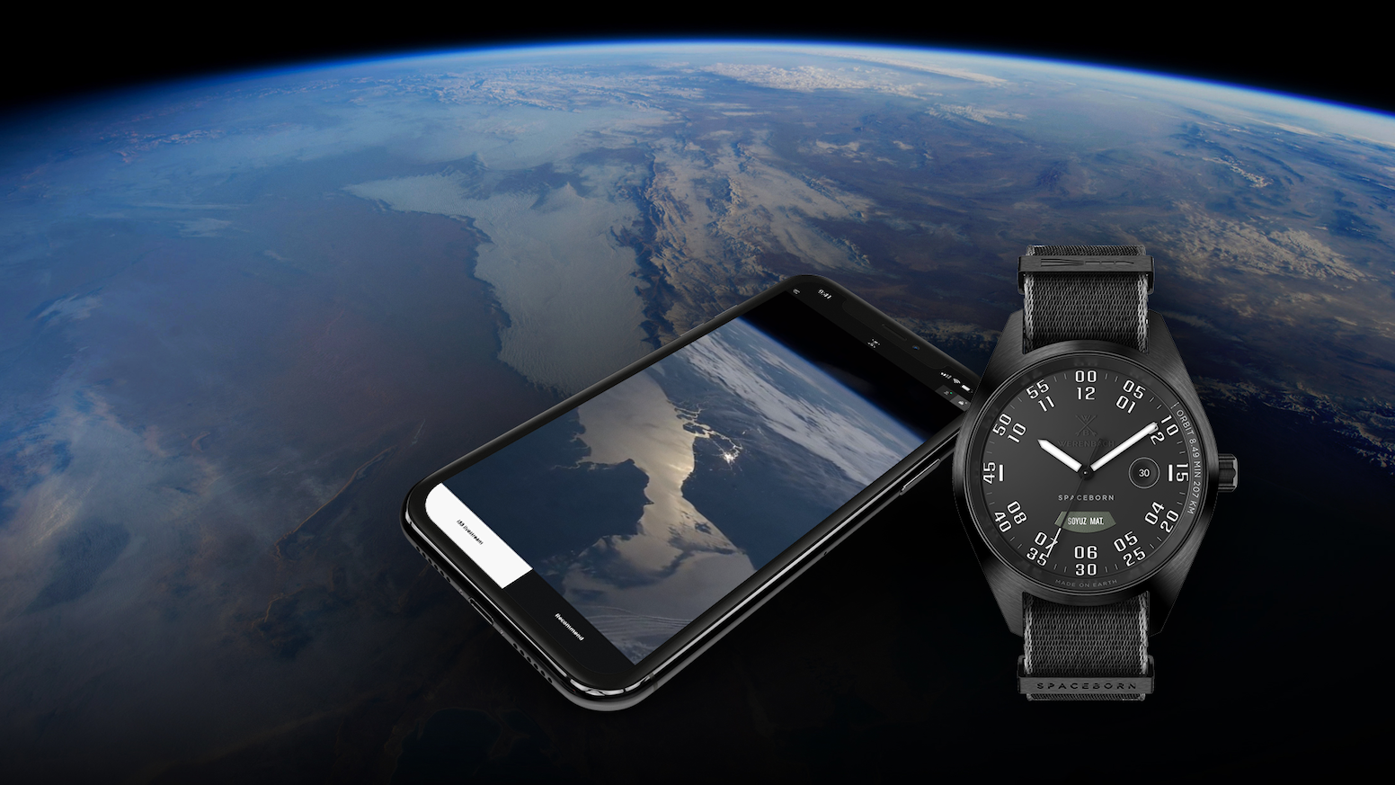 Swiss watches not only containing real Soyuz rocket material at their heart but also connecting to the ISS live stream.
