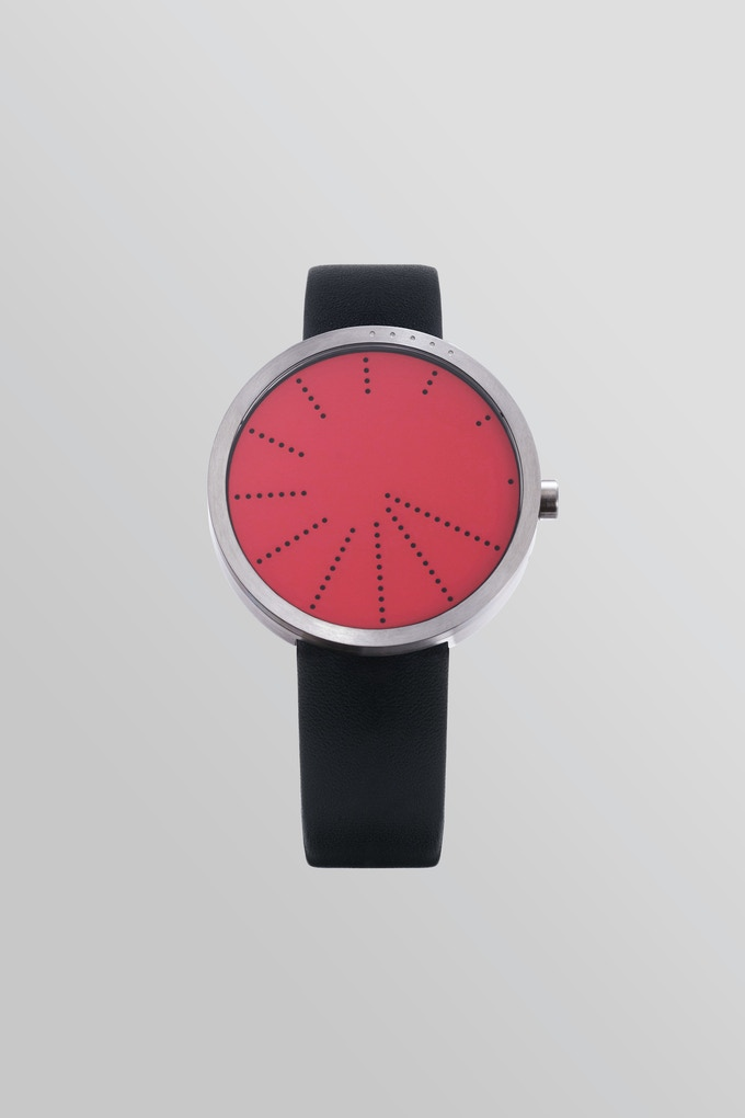 Order—RED with black leather strap.