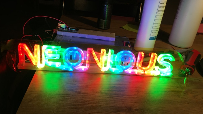 This sign is made of only 120 RGB-LEDs. Imagine what 1800 can do!