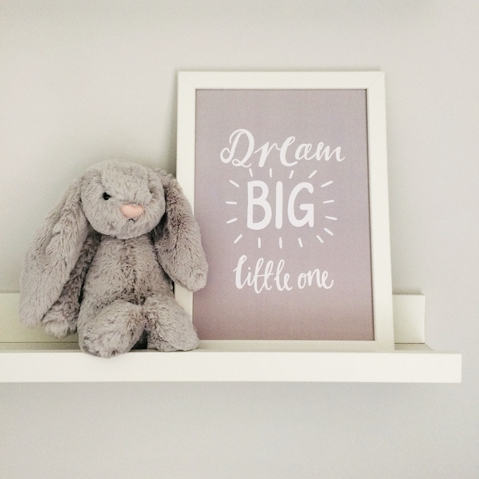 Dream Big Little One Print, available as part of bundle