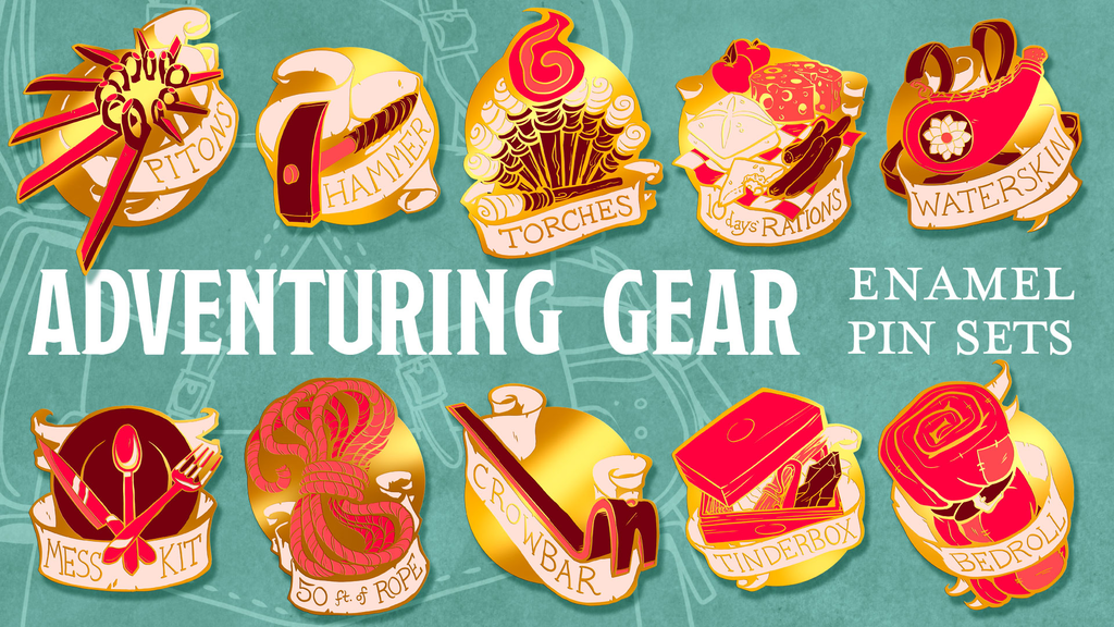 Project image for Adventuring Gear Enamel Pin Sets (Canceled)