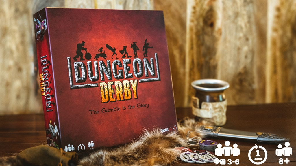 Dungeon Derby: A real-time, push your luck party game.