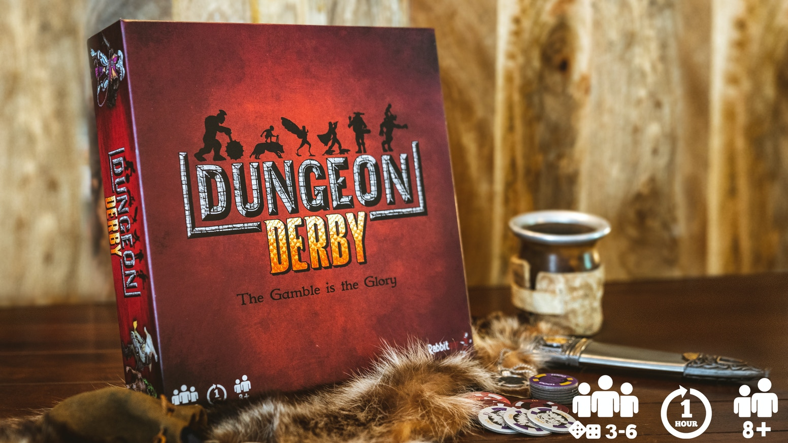 Dungeon Derby is a party game filled with strategy, betting, and a bit of luck. Non-stop action for players of all ages!