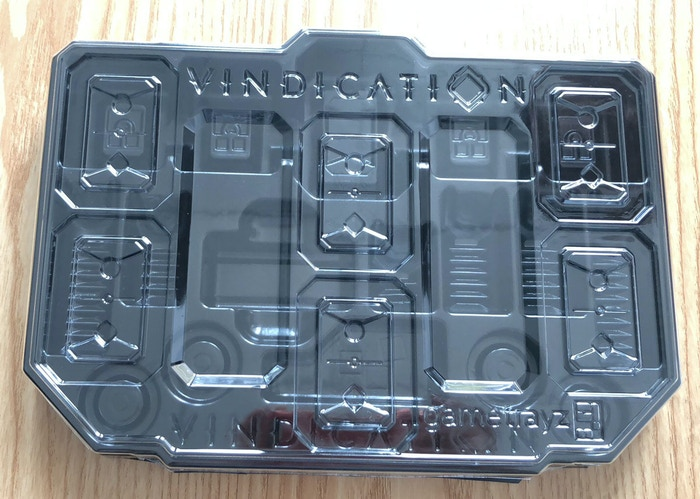 Table tray lid : holds mastery tiles during game play for easy access