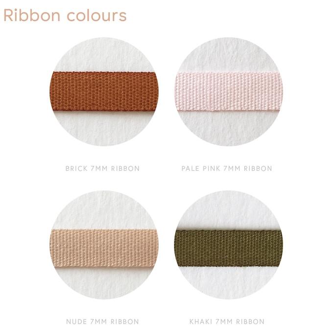 True representation of 100% ribbon colours – 7mm