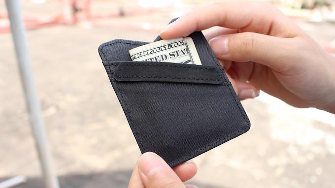 Back pocket for cash storage