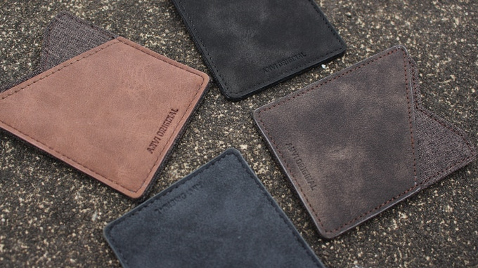 All four color options: Light brown, dark brown, black, gray