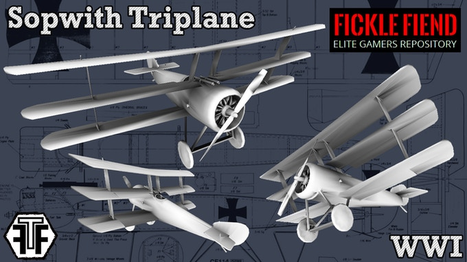 3D Printable Aircraft (1:144 Scale STL Files for Gaming) by