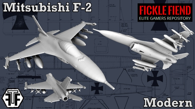 3D Printable Aircraft (1:144 Scale STL Files for Gaming) by Fickle