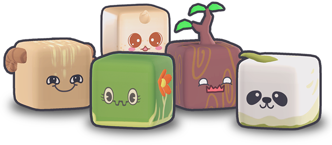 Little Cubemons from the Open World Adventure Game