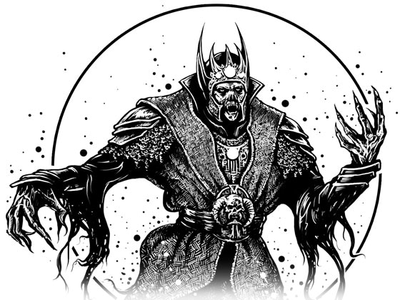 Illustration of a wraith by Simon Tranter
