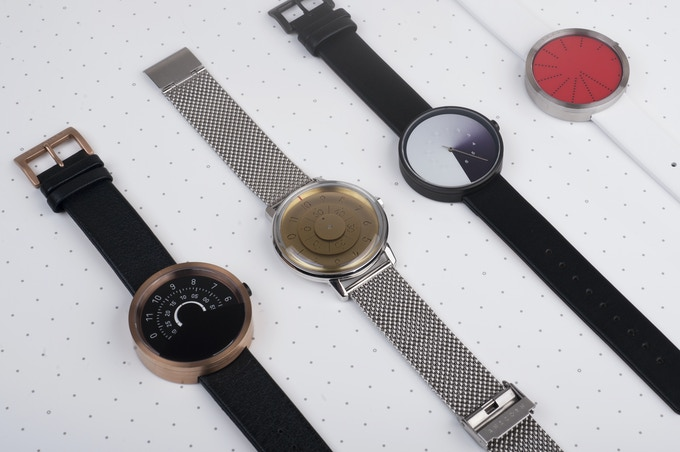 The Series 000, Series K452, Hidden Time, and Order watches from Anicorn.
