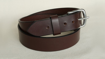 English Bridle leather belt. Handmade & made to measure.