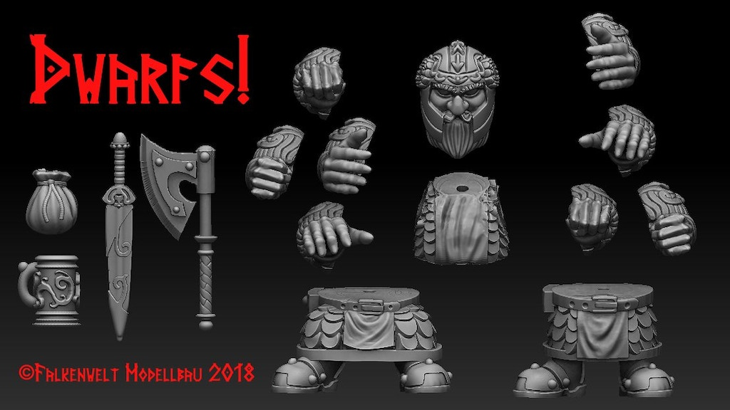 Get a modular dwarf for every need! Choose a pose that you want, build a specialist force out of dozens of parts. Endless possibilities