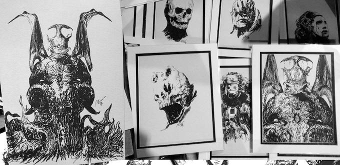 Example of Paul Gerrard Ink drawings