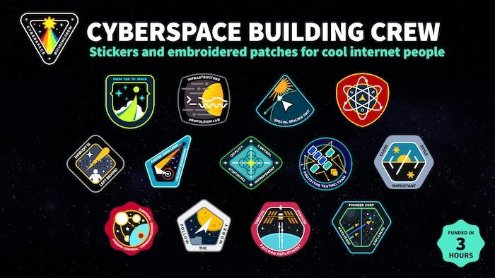 Cool embroidered patches and stickers for internet workers !  Des écussons brodés et des autocollants cools pour les travailleurs d'internet !