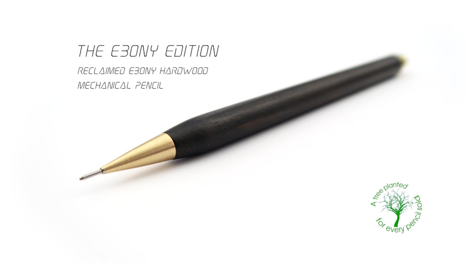 Special edition handmade ebony brass mechanical pencil by nicholas