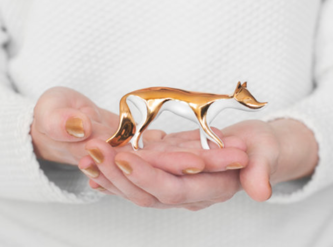 Pledge £45 or more and receive ENDE CERAMICS: GOLD FOX reward