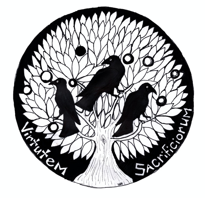 This crest also appears in the module, adorning the contract each player signs on behalf of their PCs when they commit to finding the Lord Stenorian's son.