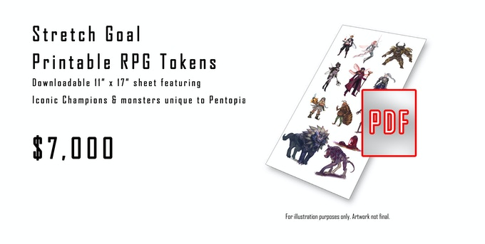 RPG Only Stretch Goal - Printable tokens you can use!