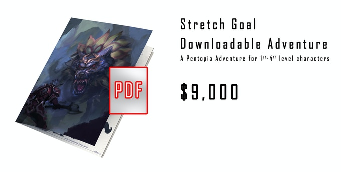 RPG Only Stretch Goal - An Introductory Adventure set in Pentopia.