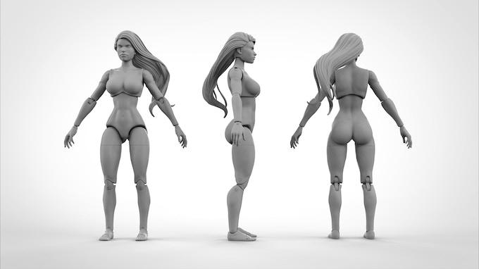 Superheroine Athletic Body