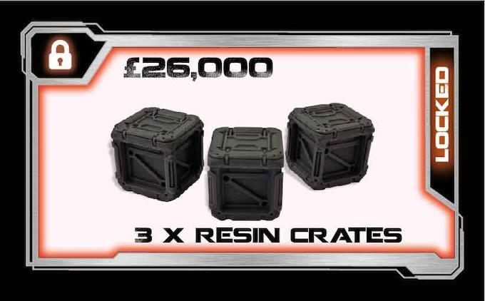 3 x resin crates