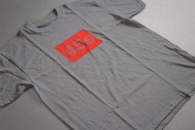 Gray with red logo.