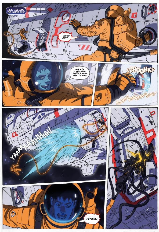 Artwork from Super Robot Mayhem #1
