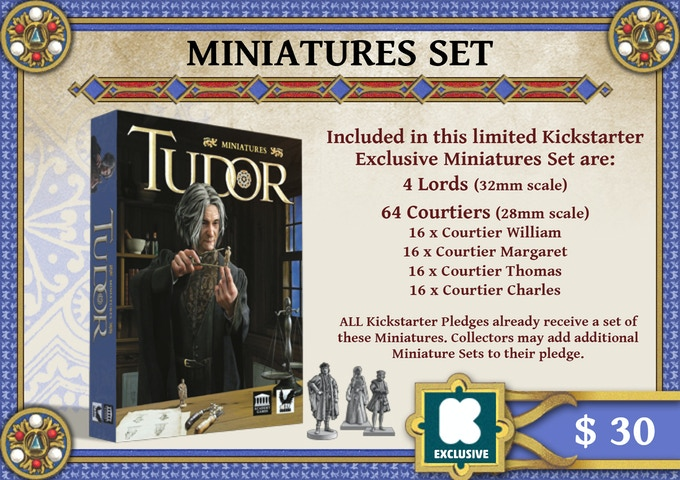 Each Kickstarter Pledge includes a set of these miniatures. We are offering this Add-On for collectors that want to add additional Miniature Sets to their pledge.