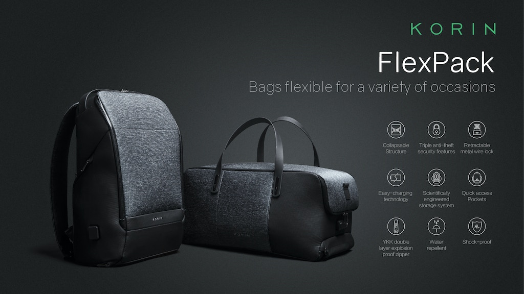 FlexPack | The Best Functional Anti-theft Duffle & BackPack