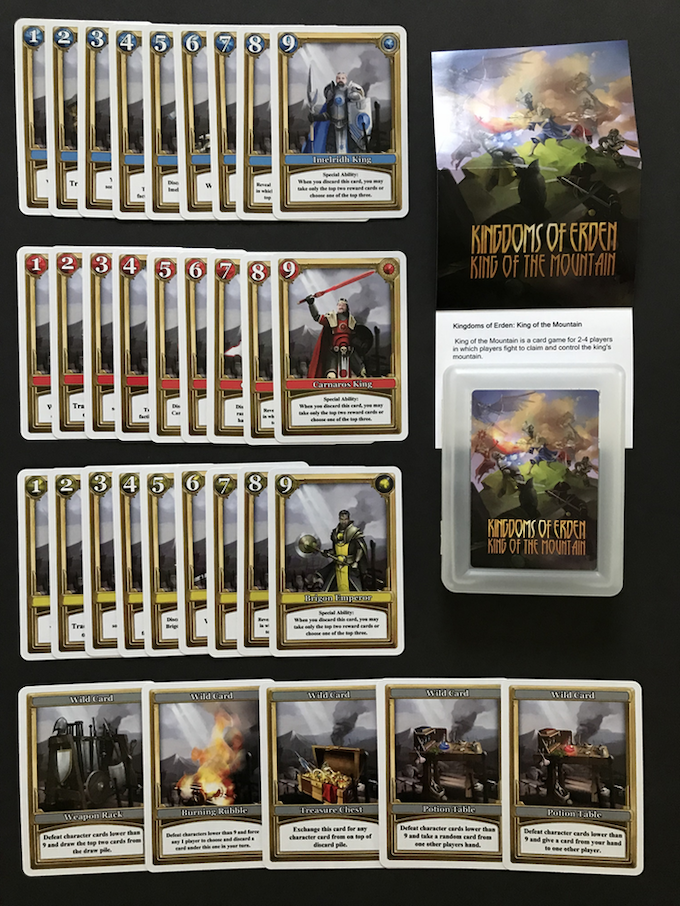 Core game faction & wild cards, rules and box