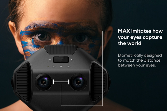 دوربین واقعیت مجازی Detu MAX دوربین با کیفیت 12k
