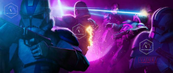 Mace massacres the clones that hunt him.